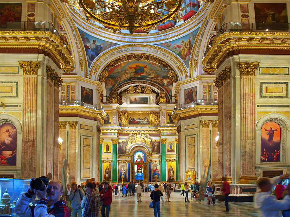 Saint Isaac's Cathedral and Colonnade, Saint-Petersburg, Russia