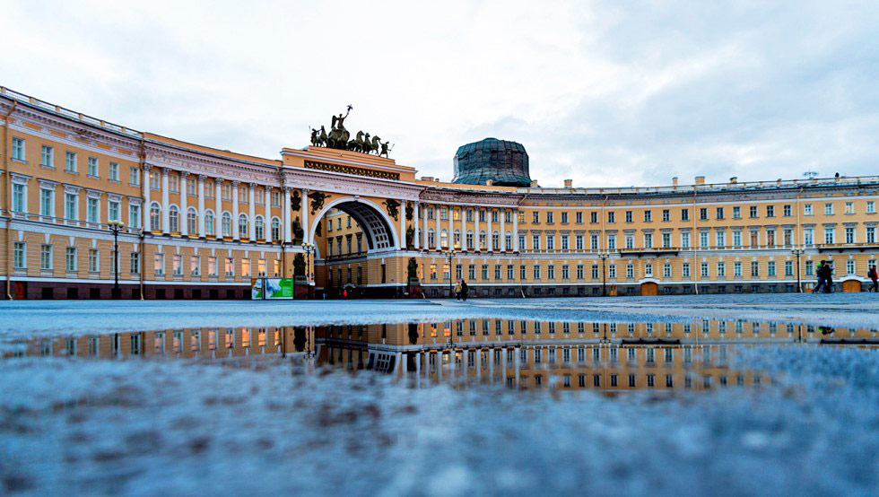 General Staff Building, view from the Palace Square, St. Petersburg